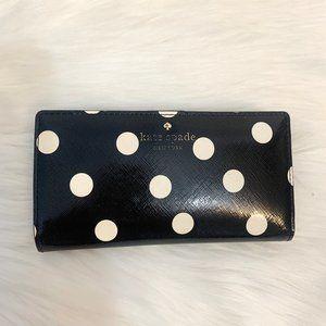 Kate Spade Polka Dot Wallet Black & White